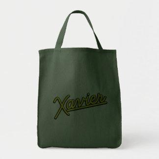 Xavier no amarelo bolsas de lona