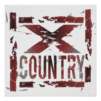 XC corredor do país transversal Poster
