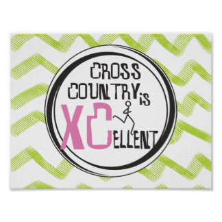 XC o corredor cor-de-rosa do país transversal é Poster