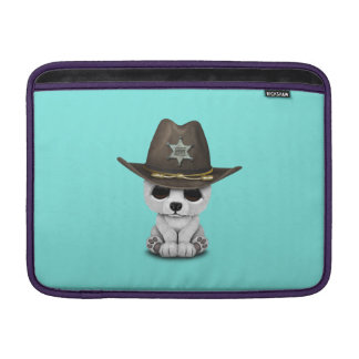 Xerife bonito de Cub de urso polar do bebê Capa Para MacBook Air