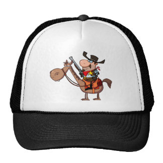 Xerife com a arma no cavalo boné