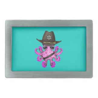 Xerife cor-de-rosa bonito do polvo do bebê