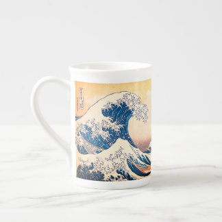 Xícara De Chá A grande onda fora de Kanagawa