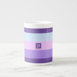 Xícara De Chá A lavanda delicada sonha o monograma da paleta de