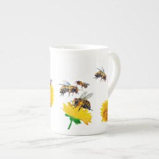 Xícara De Chá Abelhas e dentes-de-leão