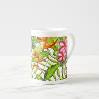 Xícara De Chá Aloha flores exóticas tropicais da selva