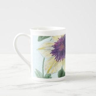 Xícara De Chá Arte da flor do Clematis