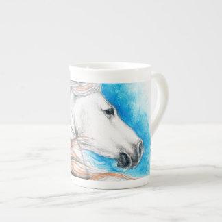 Xícara De Chá Azul andaluz do cavalo