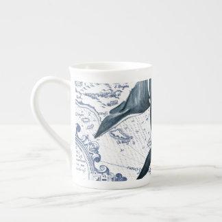 Xícara De Chá Azul do mapa da orca