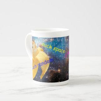 Xícara De Chá banana   - doge - shibe - espaço - uau doge