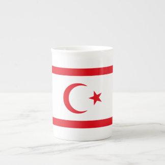 Xícara De Chá Bandeira do norte de Chipre