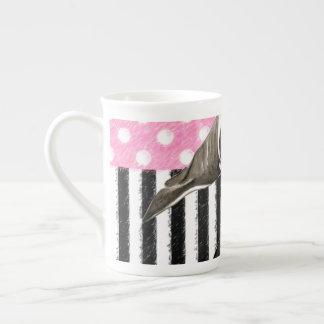 Xícara De Chá Bolinhas do rosa da baleia da orca
