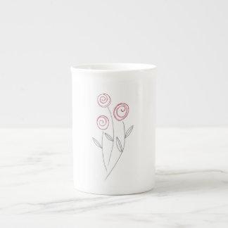 Xícara De Chá botões da rosa vermelha