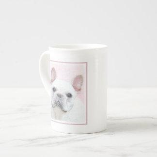 Xícara De Chá Buldogue francês (creme/branco)