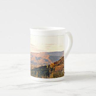Xícara De Chá Café da paisagem da angra da caverna/copo de chá