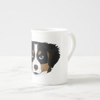 Xícara De Chá Cão de montanha de Bernese da ilustração