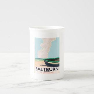 Xícara De Chá Cartaz das viagens vintage de Saltburn - de
