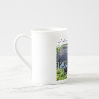 """Xícara De Chá Copo britânico da porcelana de osso (""""eu sonho de"""