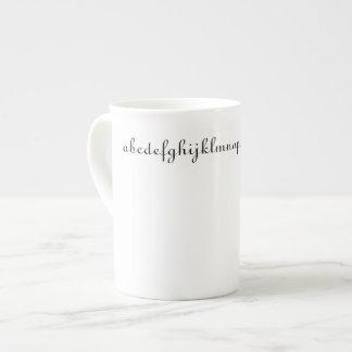 Xícara De Chá Copo de café do alfabeto