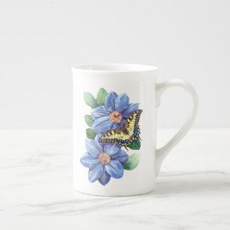 Xícara De Chá Copo de chá da borboleta da aguarela