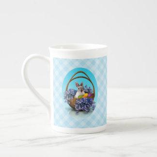 Xícara De Chá Copo de chá da cesta do coelhinho da Páscoa