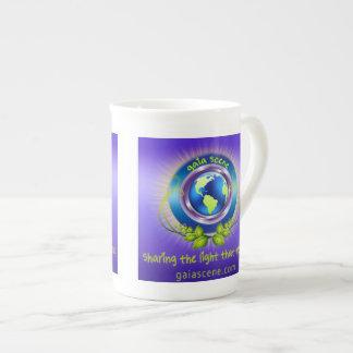 Xícara De Chá Copo de chá de China de osso da cena de Gaia