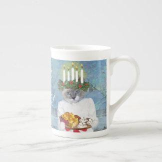 Xícara De Chá Copo de chá de Lucia do papai noel dos gatinhos