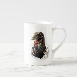 Xícara De Chá Copo de chá do dinossauro do Velociraptor