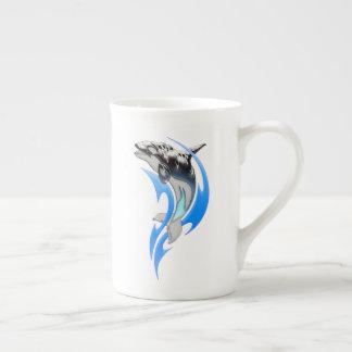 Xícara De Chá Copo de chá tribal da orca