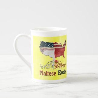 Xícara De Chá Copo maltês americano das raizes