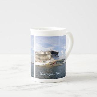 Xícara De Chá Costume decorado do arco do navio de cruzeiros