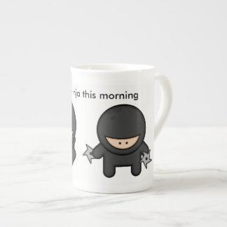 Xícara De Chá Cronometre ao ninja esta manhã
