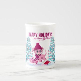 Xícara De Chá Desenhos animados adoráveis do filhote de cachorro
