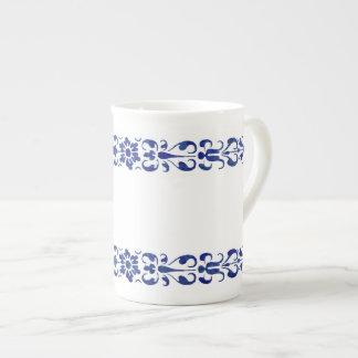 Xícara De Chá Design decorativo azul romano do século XVI