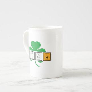 Xícara De Chá Elemento químico Zz37b do cloverleaf irlandês