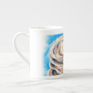 Xícara De Chá Elevando o cavalo branco