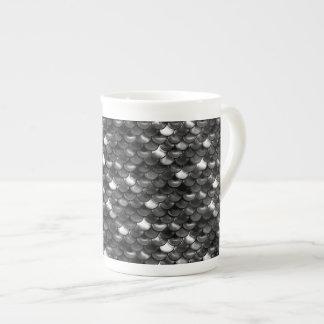 Xícara De Chá Escalas preto e branco de Falln