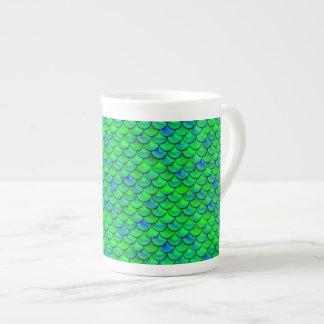 Xícara De Chá Escalas verdes do azul de Falln