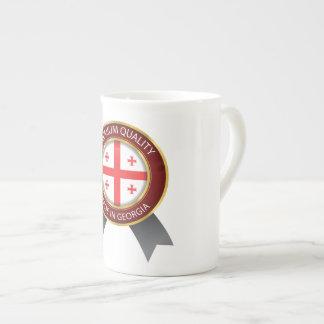 Xícara De Chá Feito na bandeira de Geórgia, ícone Georgian do