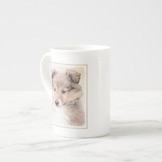 Xícara De Chá Filhote de cachorro do Sheepdog de Shetland