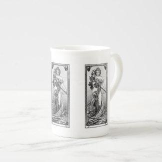 Xícara De Chá Flores quebradas Mucha de Alphonse