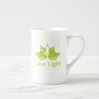 Xícara De Chá Ioga da saúde da natureza - luz do amor