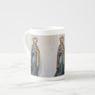 Xícara De Chá Jesus que guardara o coração sagrado dourado