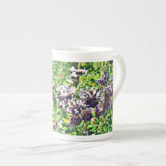 Xícara De Chá Lavanda no copo de café de China de osso do cromo