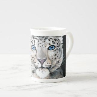 Xícara De Chá Lua do leopardo de neve
