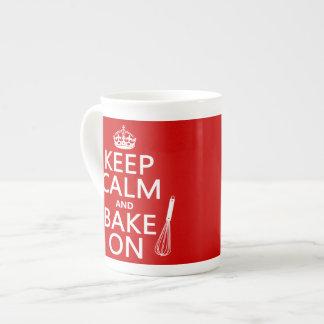 Xícara De Chá Mantenha a calma e coza-a sobre