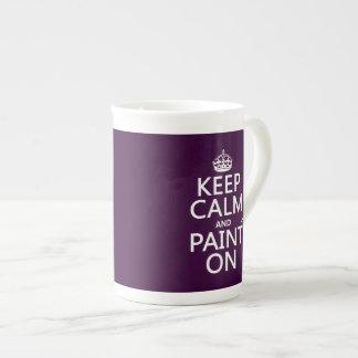 Xícara De Chá Mantenha a calma e pinte-a em (decorador) (alguma