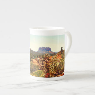 Xícara De Chá O cacto Boulder de Sedona balança o café de