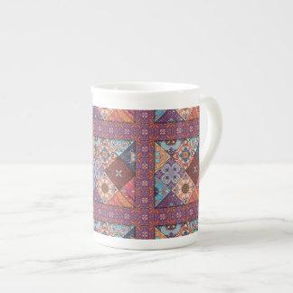 Xícara De Chá Ornamento de talavera do mosaico do vintage
