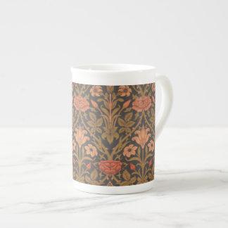 Xícara De Chá Osso floral China do copo de chá do teste padrão